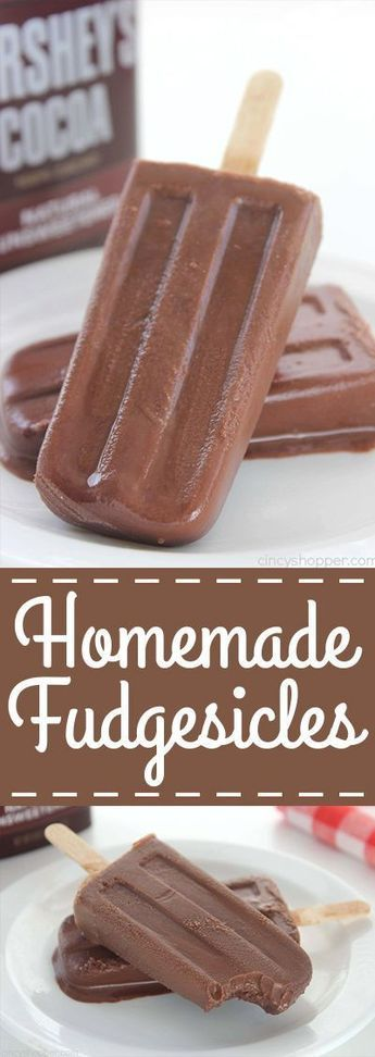 Homemade Fudgesicles – such a tasty, quick and easy cold treat for summer.