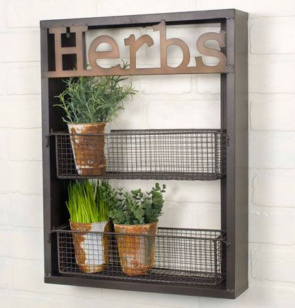 """15″W x 3½""""D x 20″T. Use this rack in a garden to hold small potted plants. This caddy would also make a charming spice rack in a"""