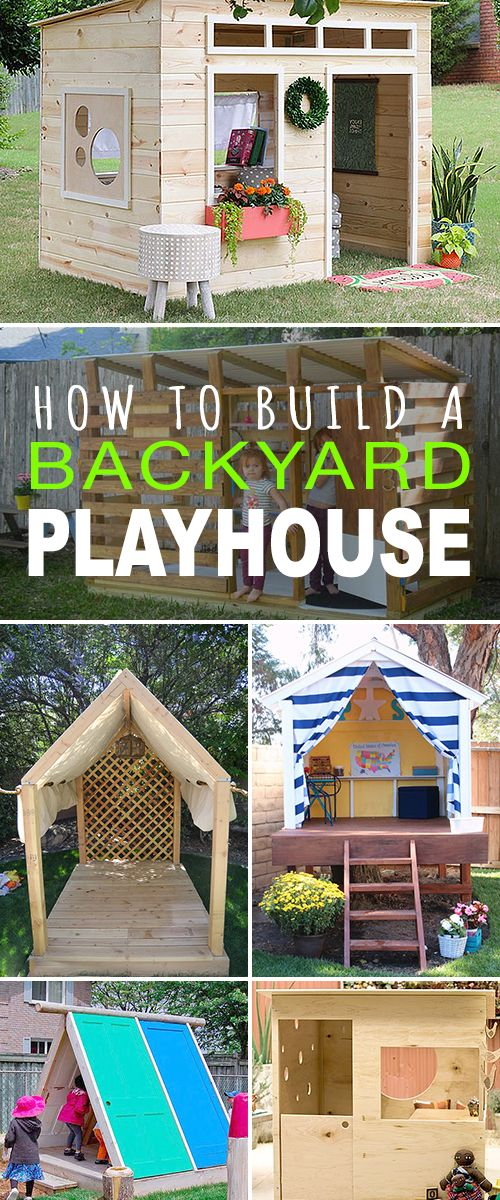 How to Build a Backyard Playhouse! • Tons of great tutorials! • Learn how to build a backyard playhouse and your kids will