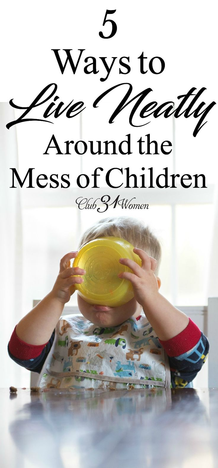 Having children can wreak havoc on a clean home, no doubt. So how can we keep up with the mess so we aren't constantly living in