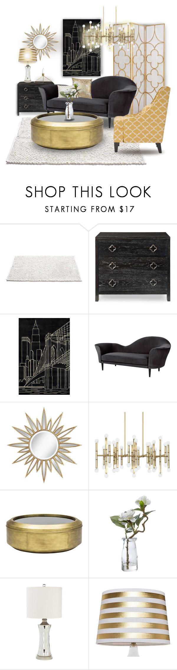 """Black & Gold"" by missblue1 on Polyvore featuring interior, interiors, interior design, дом, home decor, interior"