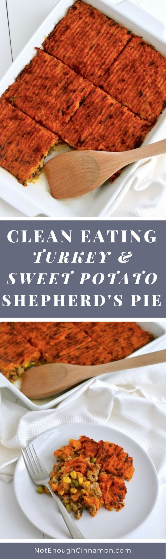 A delicious, healthy and comforting casserole made with ground turkey, veggies and top with a sweet potato mash. Naturally gluten