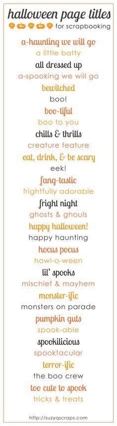 Halloween Title Ideas