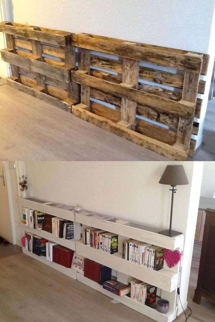 DIY Pallet Bookshelves…these are the BEST Pallet & Wood Ideas!