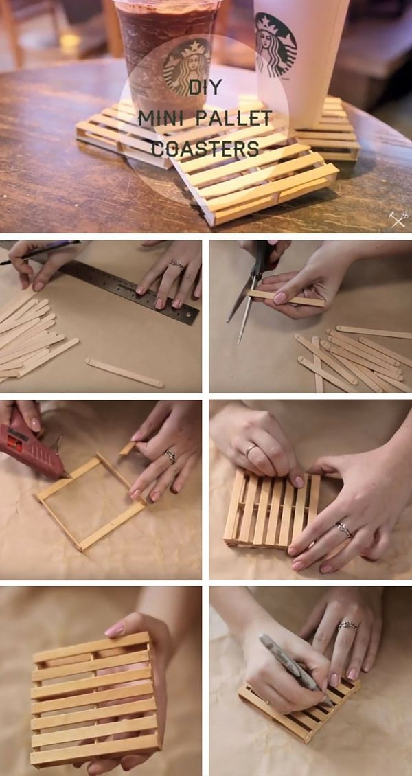 Check out the tutorial: #DIY Mini Pallet Coasters /istandarddesign/