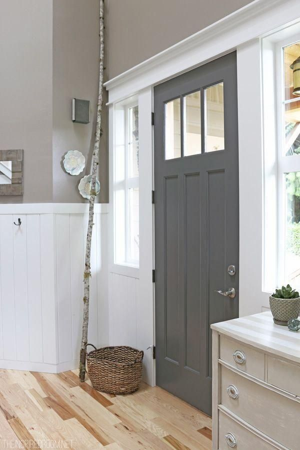 Paint the inside of your front door a different color!