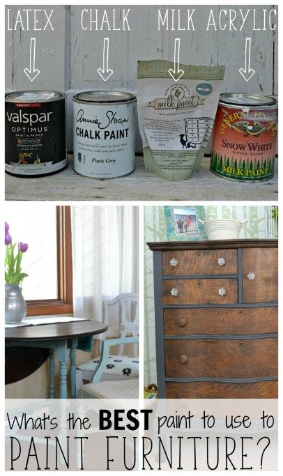 Overwhelmed by all of the choices of paint to use on furniture?  There are some major differences between paints, and they work in