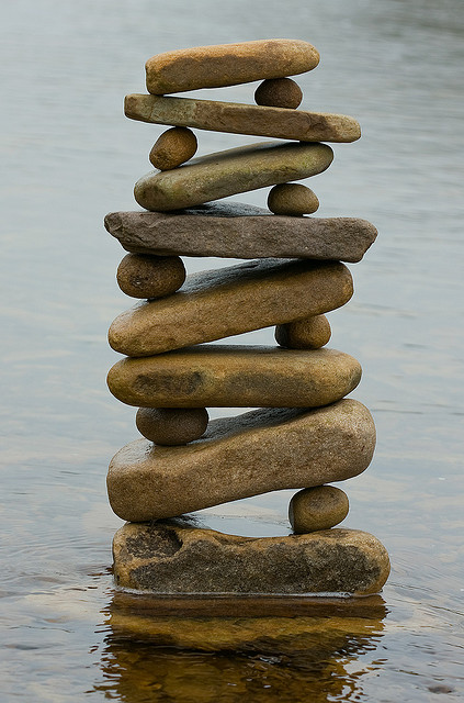 water stack – balance, equilibrium, peace – great site for pictures in this vein