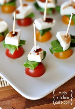 Mini Caprese Salads! – Click image to find more Food & Drink Pinterest pins
