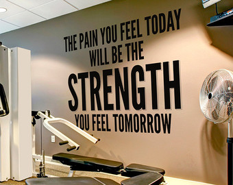 Stronger Than Yesterday Quote Sports Decals by HomeArtStickers