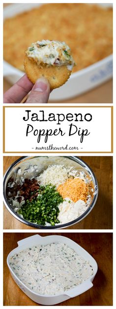 Jalapeno Popper Dip – This hot, but not spicy, dip make a great party dip.   Perfect appetizer for bridal showers, baby showers,