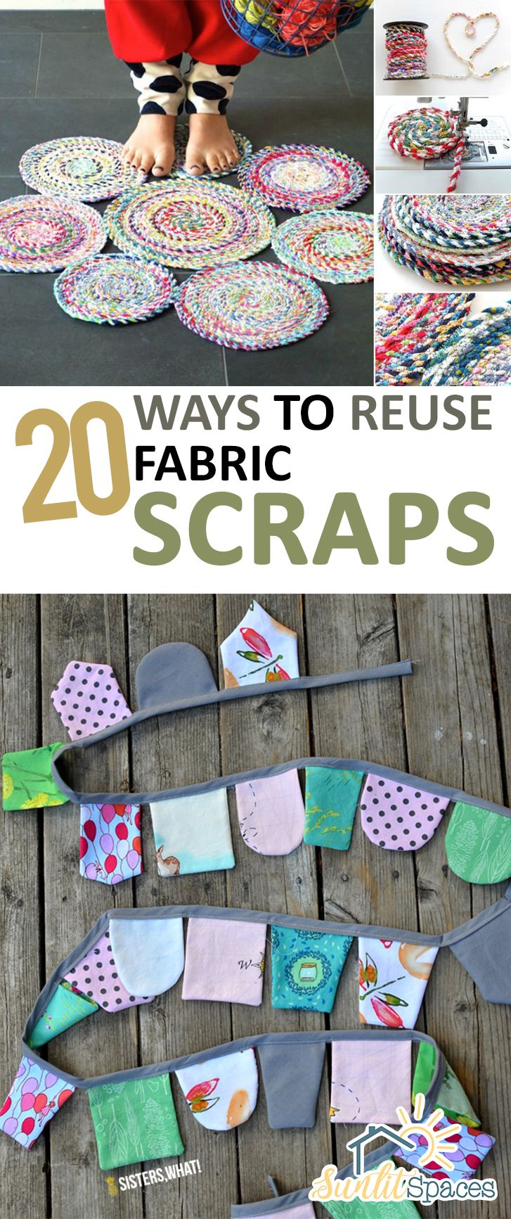 How to Reuse Fabric Scraps, Things to Do With Fabric Scraps, Fabric Scrap Crafts, Easy Sewing Projects, Simple Sewing Projects,