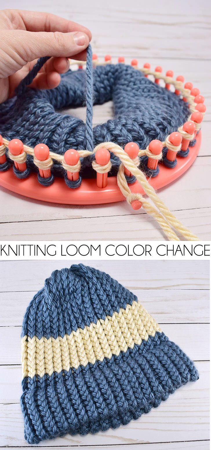 Want to mix it up and add in a new color yarn on your knitting loom but dont know how? This is a super simple tutorial for how to