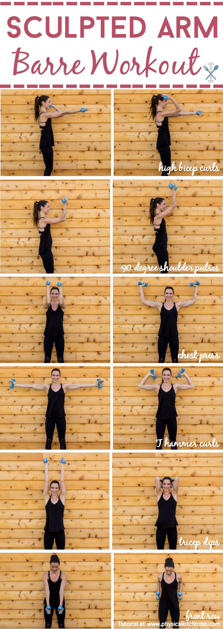 Sculpt and tone your arms in ways you never imagined with this barre inspired arm workout. Little movements with lots of