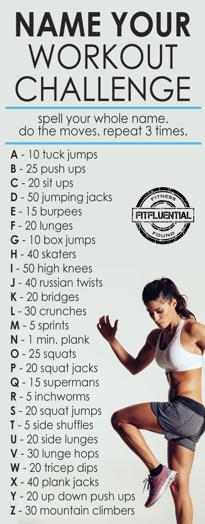 """""""Name"""" Your workout challenge from FitFluential #2_week_fun"""