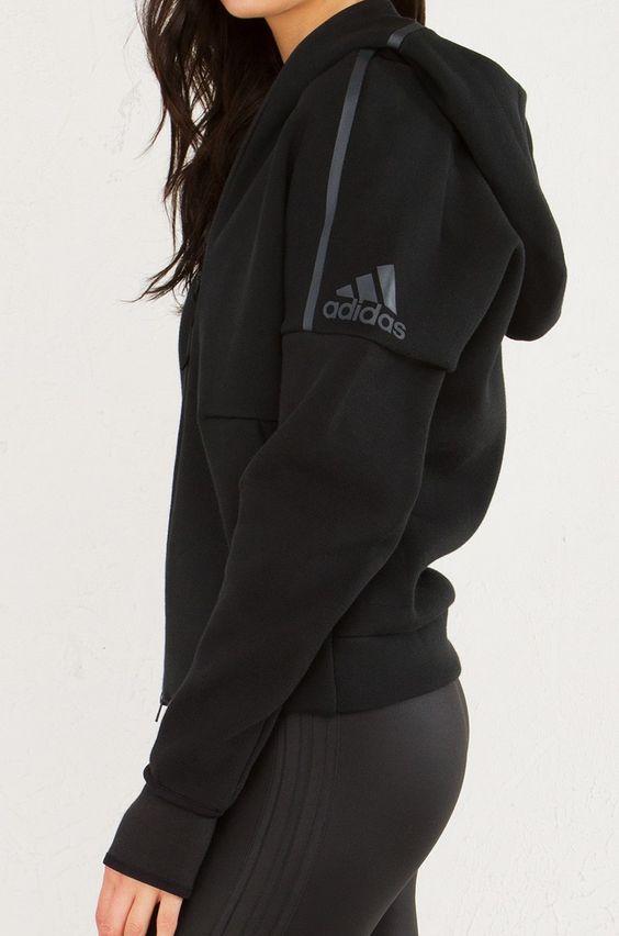 ADIDAS ZNE Zippered Hoodie in Black:  | Fitness Apparel | Shop @ FitnessApparelExp…