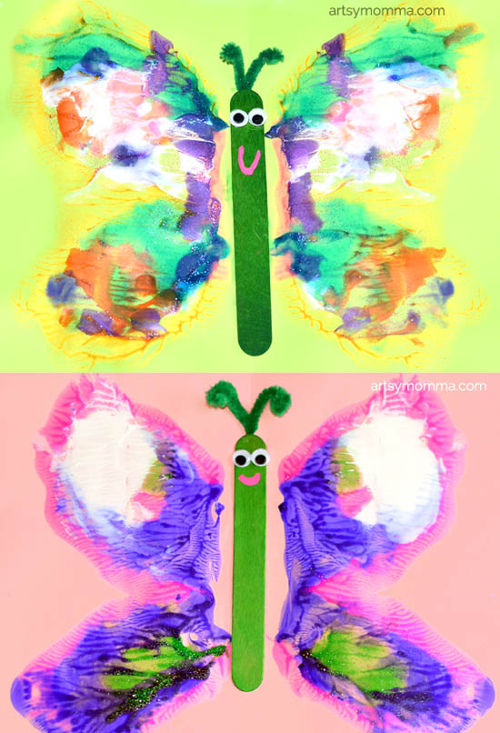 Colorful Butterfly Art Painting – Learning About Symmetry