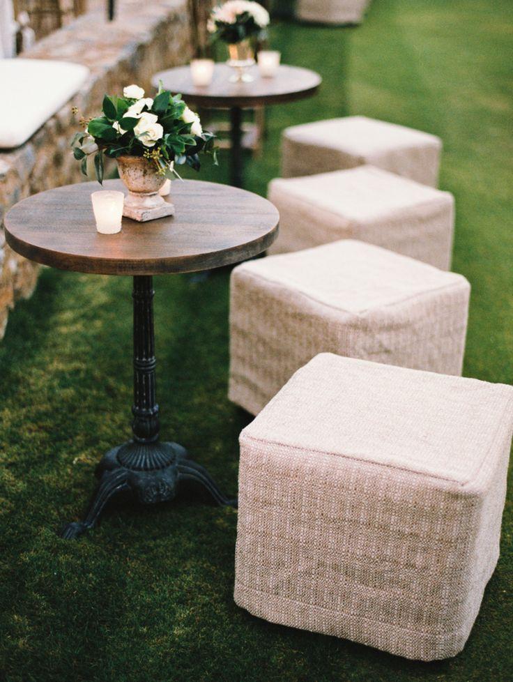 wedding cocktail hour furniture rentals stools itgirlweddings.co…