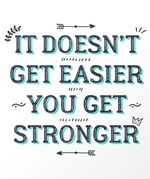You Get Stronger Inspirational Quote Art Print | Society6 #fitness_wallpaper_words