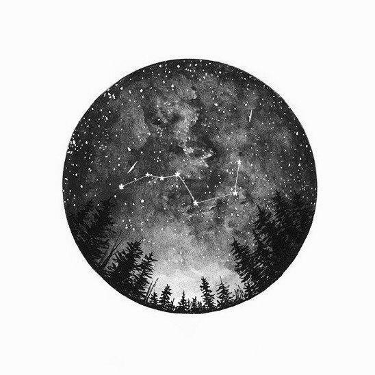 Céu estrelado Tumblr desenho