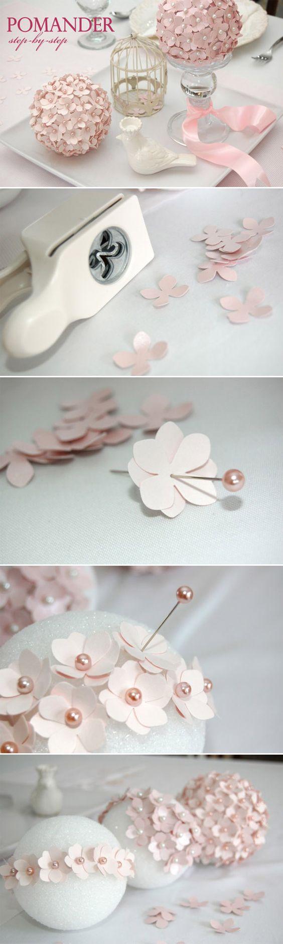flower ball diy wedding centerpiece ideas for pink weddings / www.himisspuff.co…