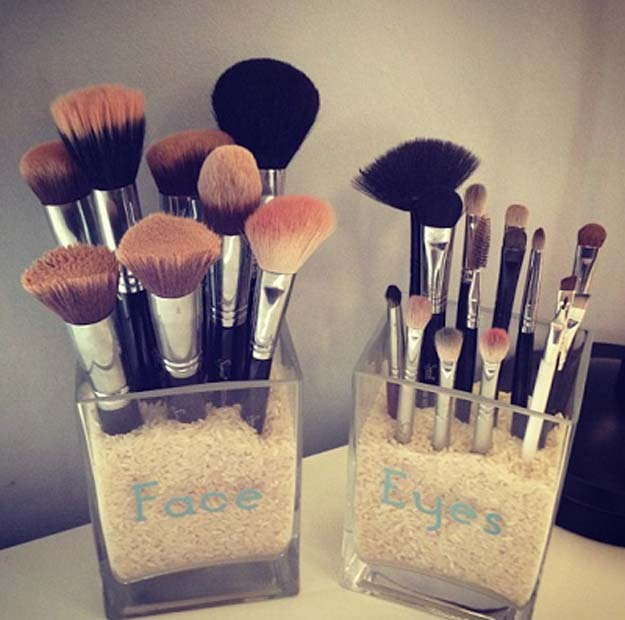 DIY Makeup Storage and Organizing – DIY Makeup Brush Storage – Awesome Ideas and Dollar Stores Hacks for Some Seriously Great