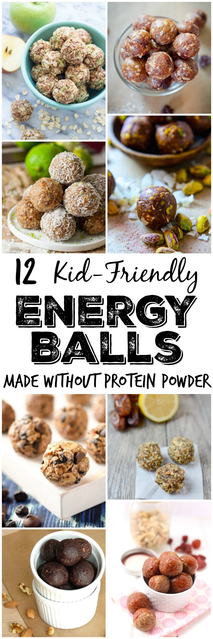 Looking for a quick, healthy snack made with real food ingredients? Here are 12 kid-friendly energy ball recipes made without