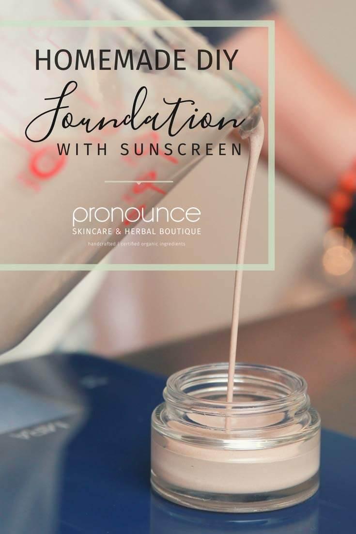 Smooth Finish DIY Organic Foundation Makeup…With Sunscreen – pronounceskincare…