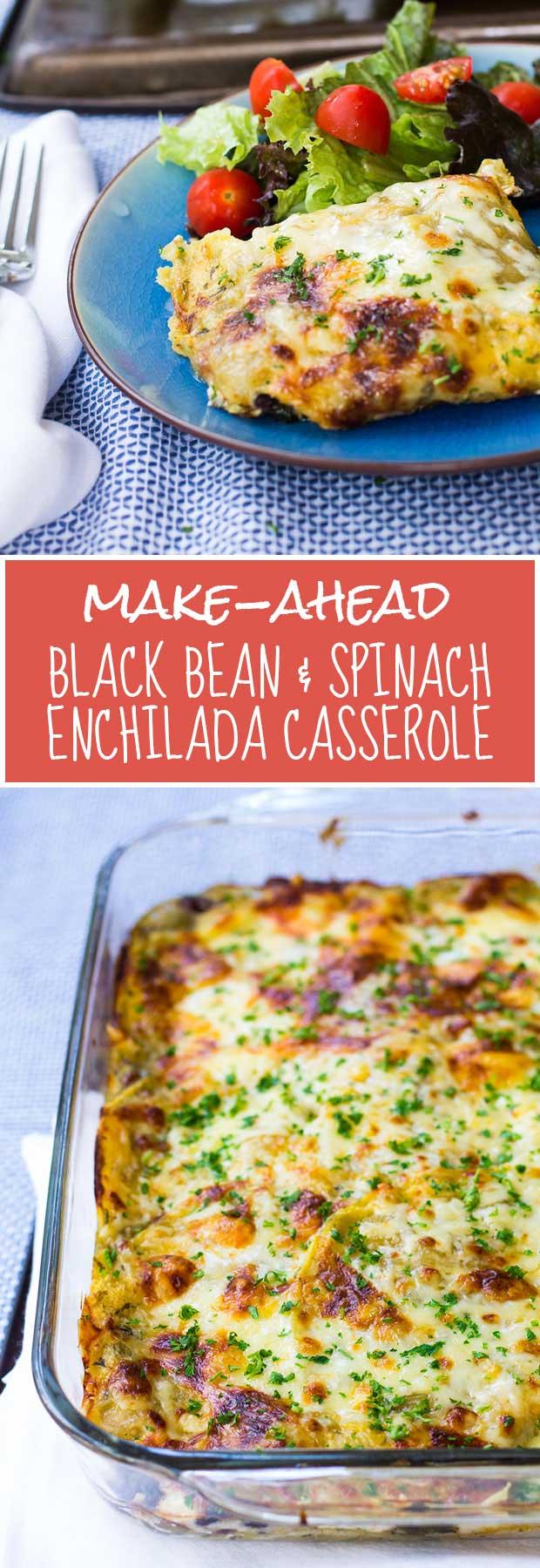 Make-Ahead Black Bean & Enchilada Casserole — an easy, gluten-free, healthy, kid-friendly make-ahead meal! | www.kiwiandbean.com