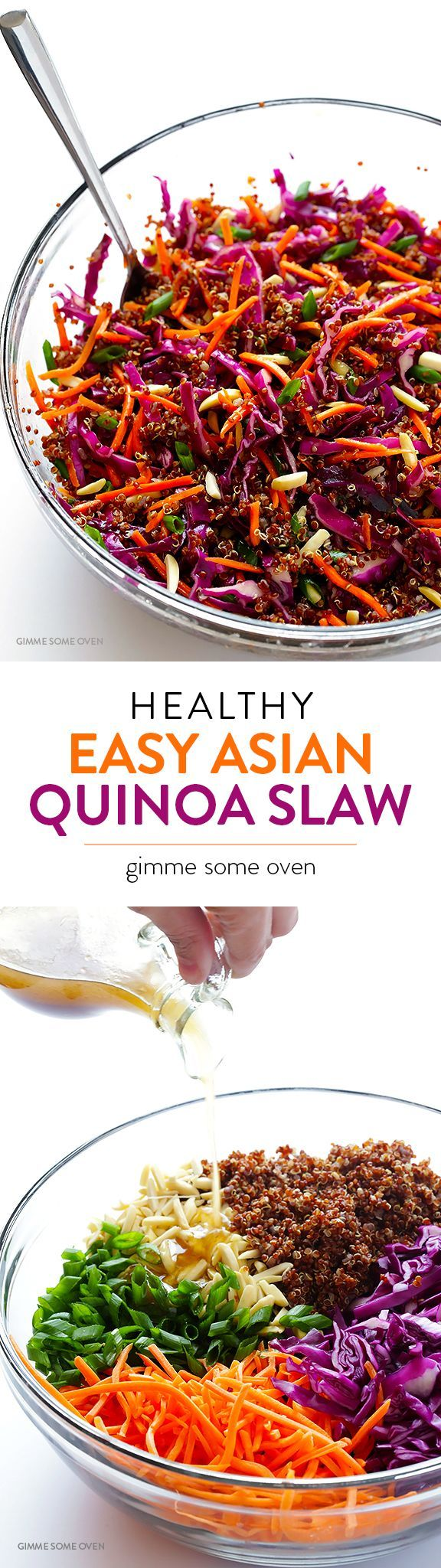 Easy Asian Quinoa Salad — quick and easy to make, full of great flavor, and naturally vegan and gluten-free!