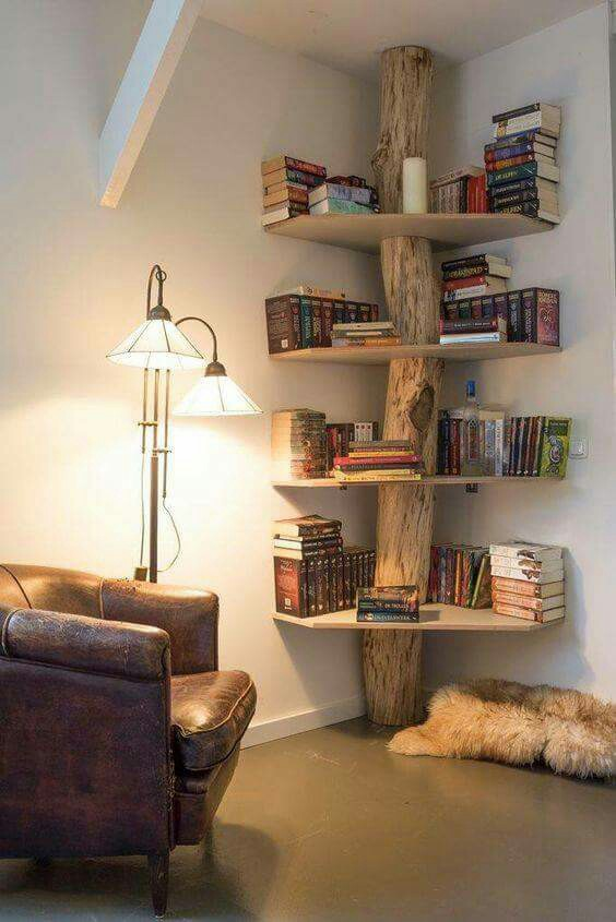 A delightful and creative book nook!