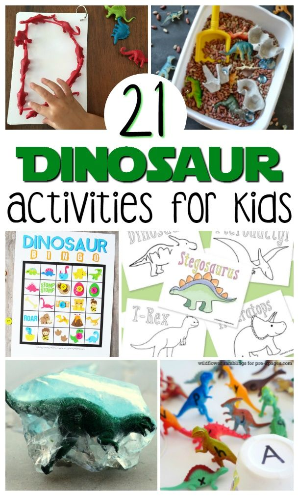 Check out this list of 21 Easy Dinosaur Activities For Kids that not only celebrate colossal creatures, but also entertain and