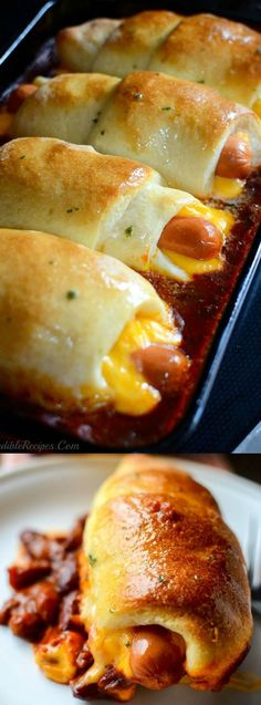 If you need an easy, cheesy, budget friendly dinner recipe then you are really going to LOVE this Chili Cheese Dog Bake from My