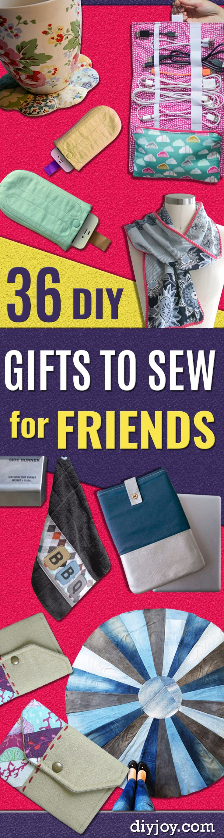 DIY Gifts To Sew For Friends – Quick and Easy Sewing Projects and Free Patterns for Best Gift Ideas and Presents – Creative Step