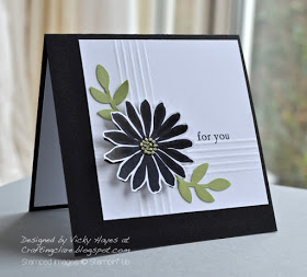 Stampin' Up ideas and supplies from Vicky at Crafting Clare's Paper Moments: Secret Garden – handkerchief-style!