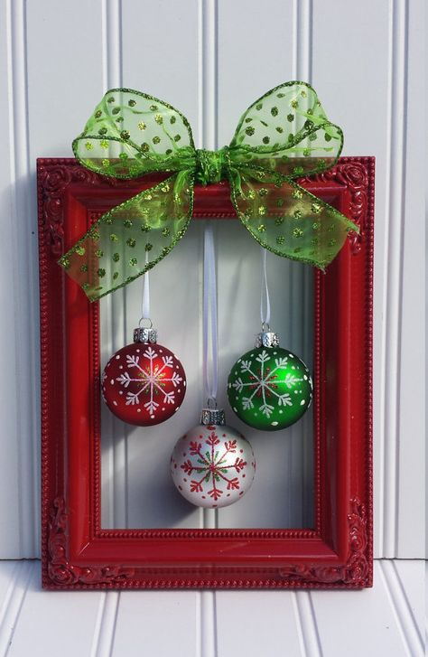 These Christmas decorations are mostly under $5 and many of the items needed can be found at Dollar Tree, Walmart, or Thrift