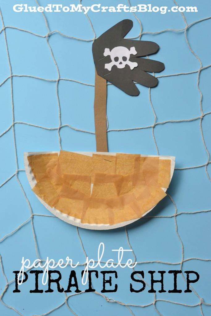Paper Plate Pirate Ship – Kid Craft