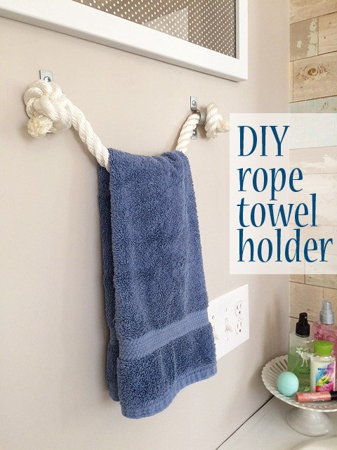 TGIF! I'm here today to share how you can make a towel holder with rope – a DIY project I did as part of my kids' bathroom