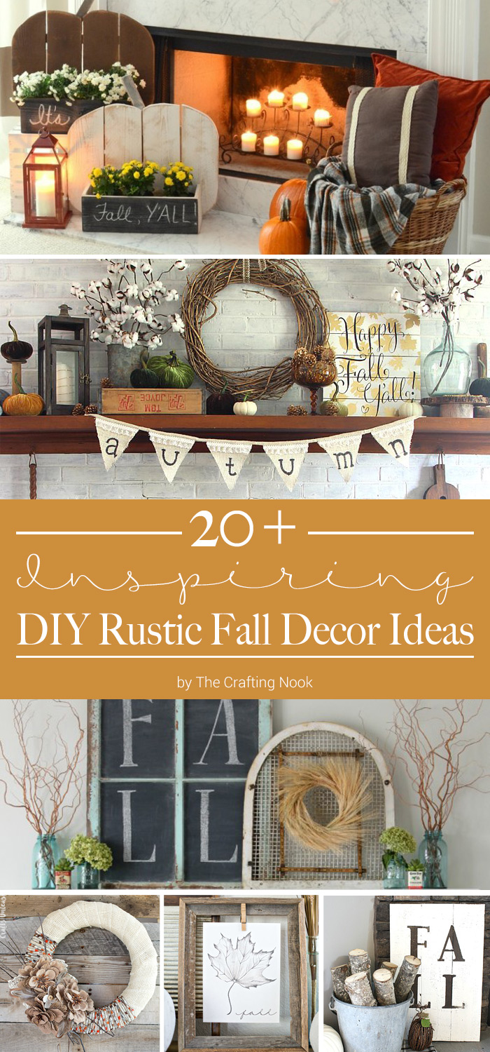 Happy Fall Y'all! Celebrate the arrival of the new season by decorating your home with some rustic fall decor. These DIY Rustic