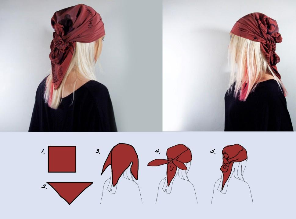 Fashion : Head scarf style 6 easy ways – PIRATE HAIR STYLE