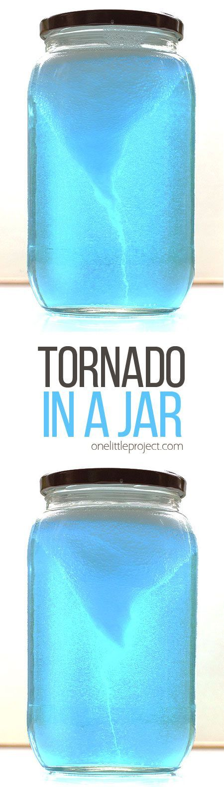 This tornado in a jar experiment is crazy simple, but it's SO COOL to watch! It takes less than five minutes to put together.