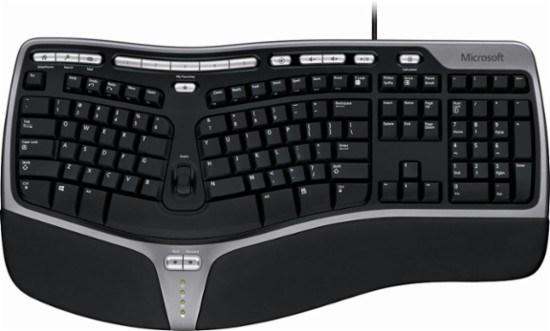 Ergonomic Keyboard - कंप्यूटर के इनपुट डिवाइस (Input Devices)