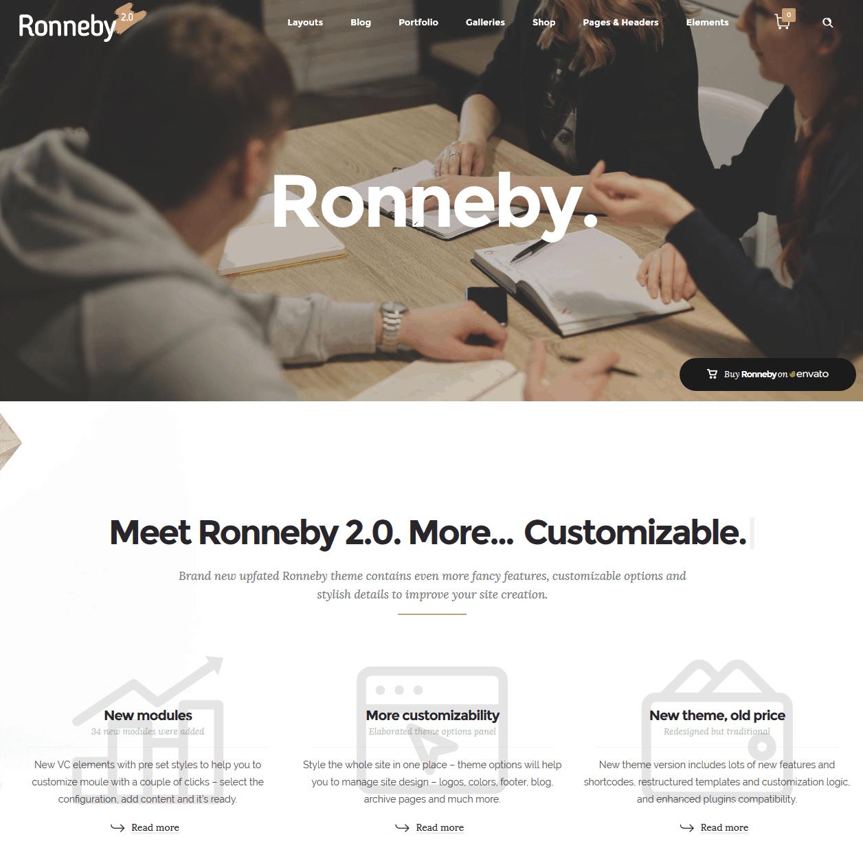 Ronneby - Best WP Theme