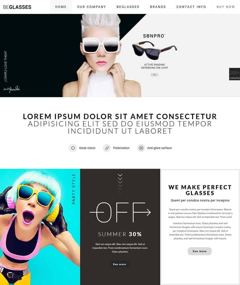 BeGlasses – Creative WP Theme