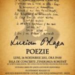 Spectacol de poezie dedicat lui Lucian Blaga