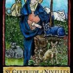 Sfânta Gertrude, ocrotitoarea neamului pisicesc