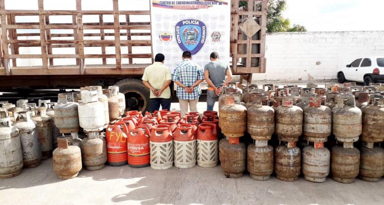 Detenidos por desvío de carga