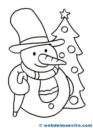 Tarjetas de navidad para colorear web del maestro - Dibujos para pintar navidad ...