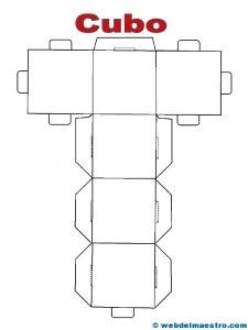 Figuras geométricas recortables. cubo