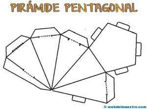 Figuras geométricas recortables: pirámide pentagonal